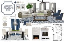 Transitional Cream Combined Living/Dining  MaryBeth C. Moodboard 1 thumb