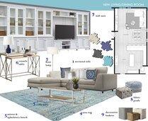 Traditional living & dining room transformation Laura D Moodboard 2 thumb