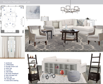Transitional Living Room Decor Ideas   Rustic Accent Stone Jessica S. Moodboard 1 thumb