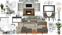Contemporary White Balanced Living/Dining Area Noraina Aina M. Moodboard 1 thumb