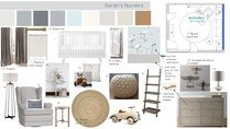 Neutral and Calming Nursery Design Marcy G. Moodboard 1 thumb