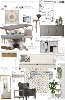 Contemporary Home Interior Jessica S. Moodboard 1 thumb
