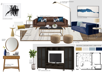 Colorful Eccentric Apartment Living Room Picharat A.  Moodboard 2 thumb
