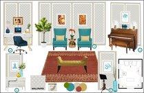 Eclectic Music Room Rachel H. Moodboard 2 thumb
