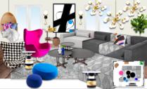 Bright Modern Living Room Michelle B.  Moodboard 2 thumb