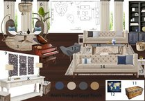 Transitional Blue Accented Living Room Jessica A. Moodboard 1 thumb