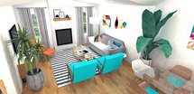Online Designer Combined Living/Dining 3D Model