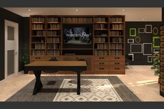 Online Combined Living/Dining 3D Virtual Design