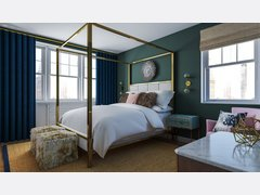 Femenine glamour bedroom Rendering thumb