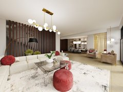 Contemporary Classic Interior Design Rendering thumb