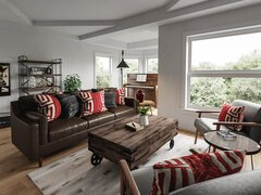 Eclectic Living Room Decor Rendering thumb