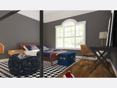 Contemporary Boys Room Rendering thumb