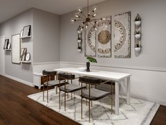 Contemporary Eclectic Home Interior Design Rendering thumb