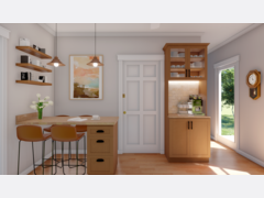 Neutral Eclectic Kitchen Decor Ideas Rendering thumb