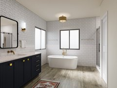 Eclectic Interior Design Bathroom Transform Rendering thumb