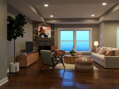 Eclectic Living Room Interior Design Ideas  Rendering thumb