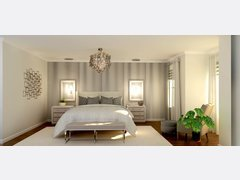 Glamorous and Elegant Master Bedroom Rendering thumb