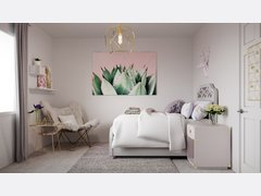 Sweet Femenine Bedroom Transformation Rendering thumb