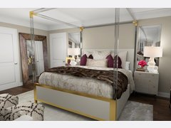 Classy glam bedroom  Rendering thumb