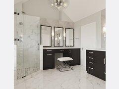 Sleek Modern Bathroom Remodel Design Rendering thumb