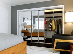 Modern and Sleek Bedroom Rendering thumb