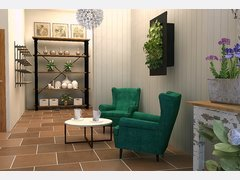Beautiful flower shop transformation Rendering thumb