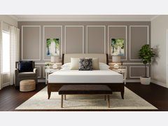Calm Transitional Bedroom Design Rendering thumb