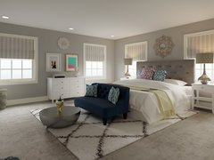 Transitional with Neutral Colors Master Bedroom Rendering thumb