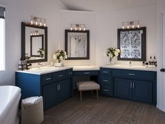 Transitional Style Master Bathroom Remodel  Rendering thumb