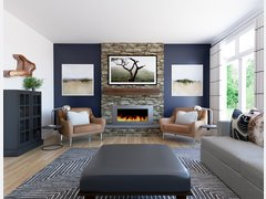 Contemporary Home Interior Design With Blue Accents Rendering thumb
