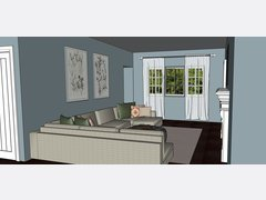 Small condo transitional living room Rendering thumb