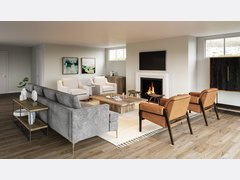 Transitional Neutral Living Room Transformation Rendering thumb