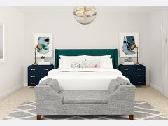 White and Bright Bedroom Transformation Rendering thumb