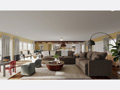 Transitional Style Home Decor Rendering thumb