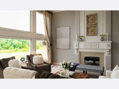 Classic & Elegant Neutral Living Room Rendering thumb