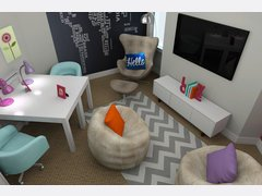 Modern & Fun Kids Playroom Rendering thumb
