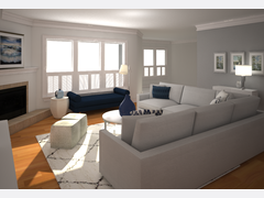 Transitional Living Room Rendering thumb