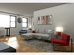 Stylish living room Rendering thumb