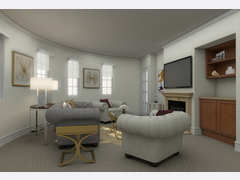 Elegant Living Room Design Rendering thumb