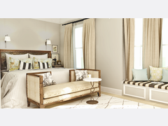 Classic and Soft Bedroom  Rendering thumb