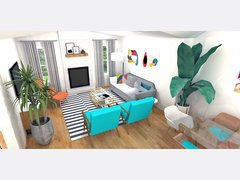 Hollys Bright Living/ Dining Room Rendering thumb