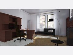 Modern Elegant Home Office Rendering thumb