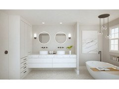 Contemporary White Bathroom Design Remodel Rendering thumb