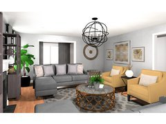 Transitional Living Room Layout Ideas Rendering thumb