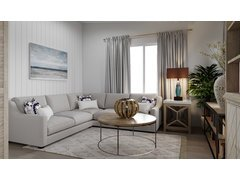 Elegant transitional living room and bedroom design Rendering thumb