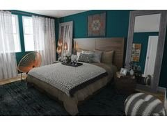 Eclectic Stylish Bedroom Rendering thumb