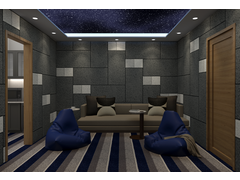 Transitional Kids Playroom Rendering thumb