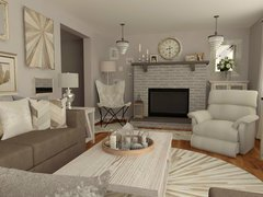White Transitional Living Room Rendering thumb