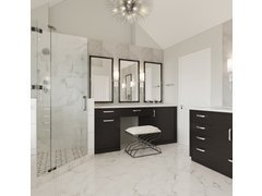 Sleek Modern Bathroom Remodel Design Rendering thumb