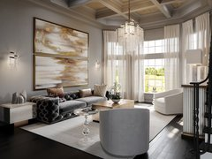 Glamorous Modern Home Interior Design Rendering thumb